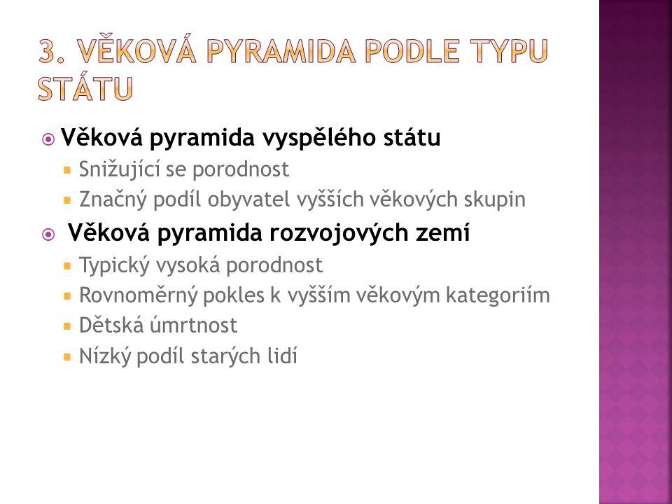 3. Věková pyramida podle typu státu