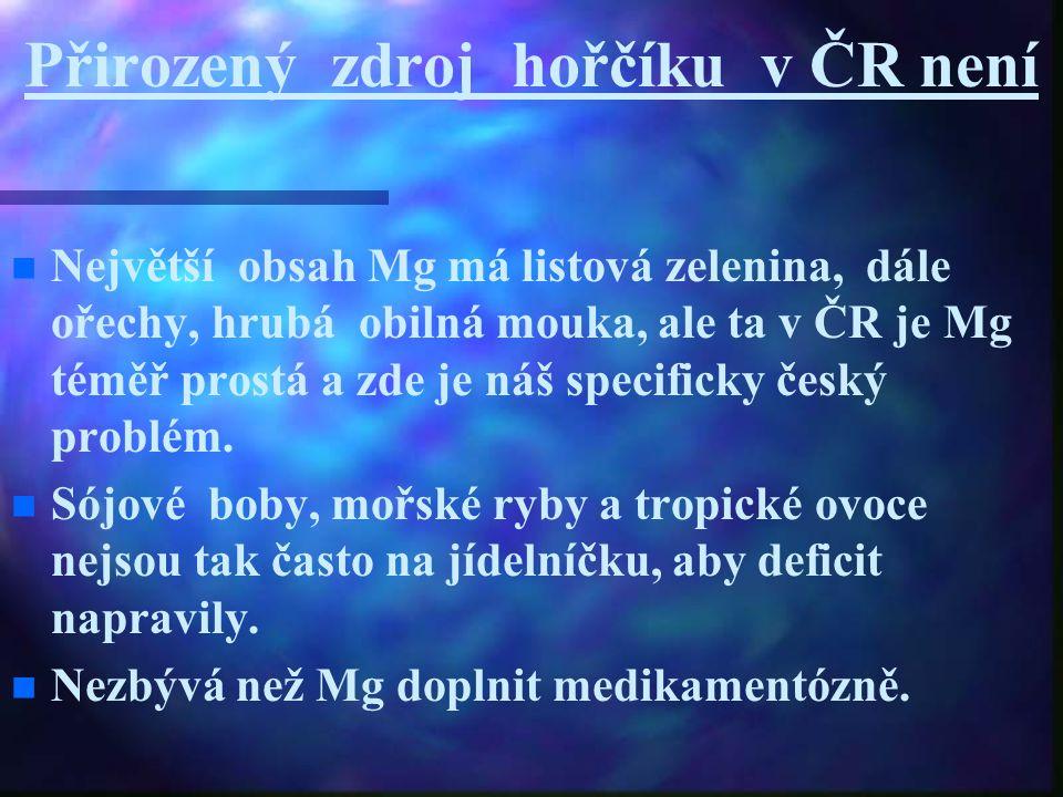 Přirozený zdroj hořčíku v ČR není