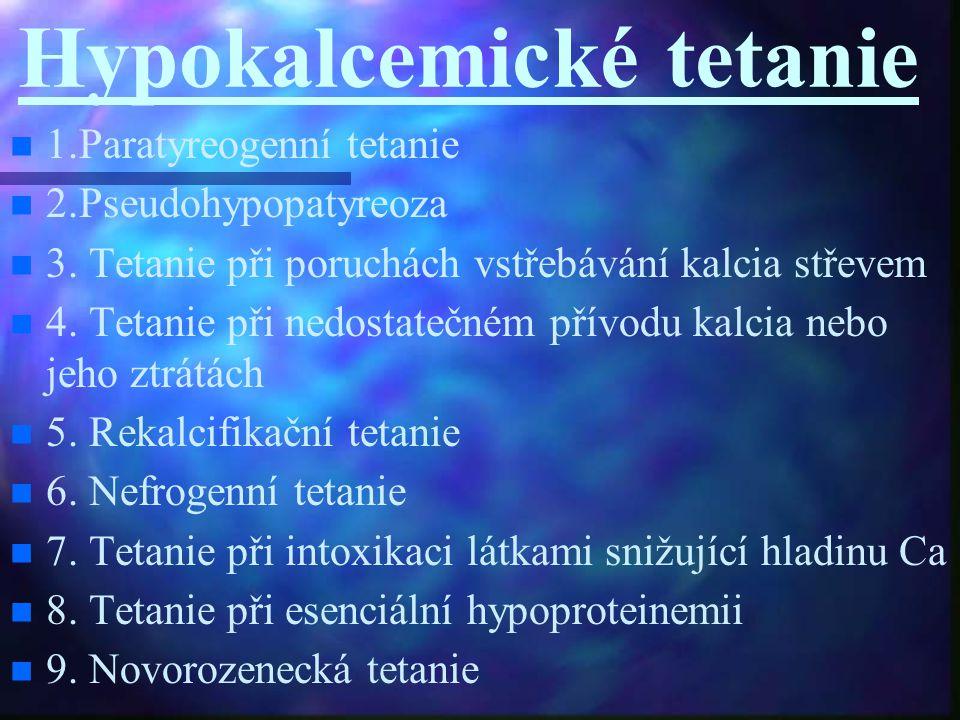 Hypokalcemické tetanie