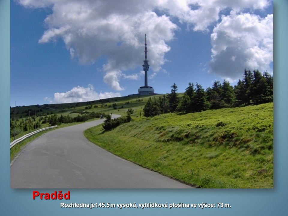 Rozhledna je145.5 m vysoká, vyhlídková plošina ve výšce: 73 m.