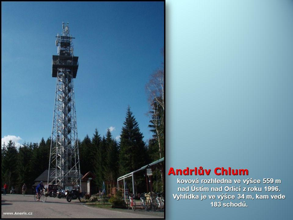 Andrlův Chlum kovová rozhledna ve výšce 559 m