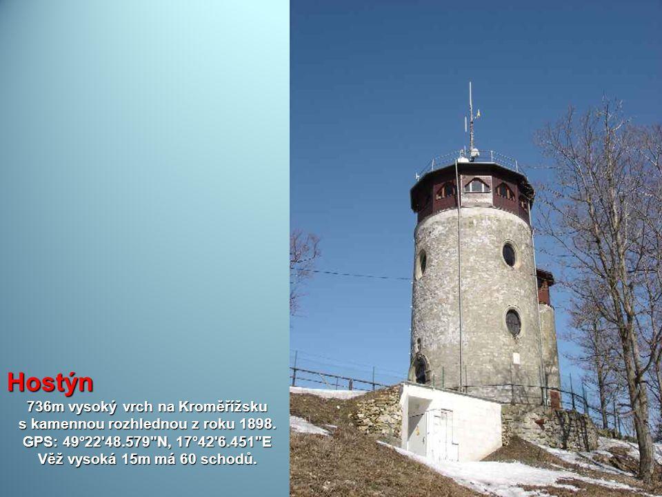 736m vysoký vrch na Kroměřížsku s kamennou rozhlednou z roku 1898.
