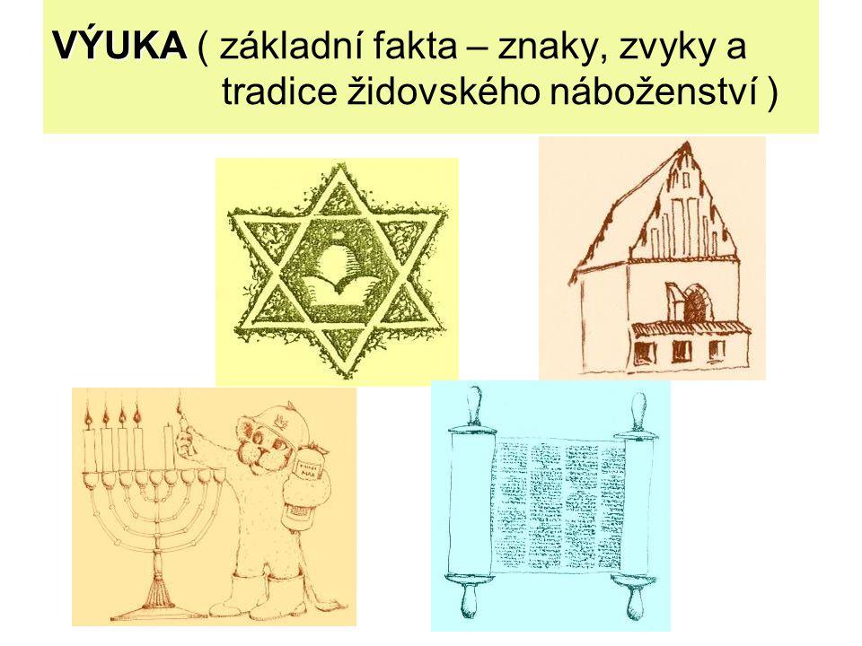 VÝUKA ( základní fakta – znaky, zvyky a tradice židovského náboženství )