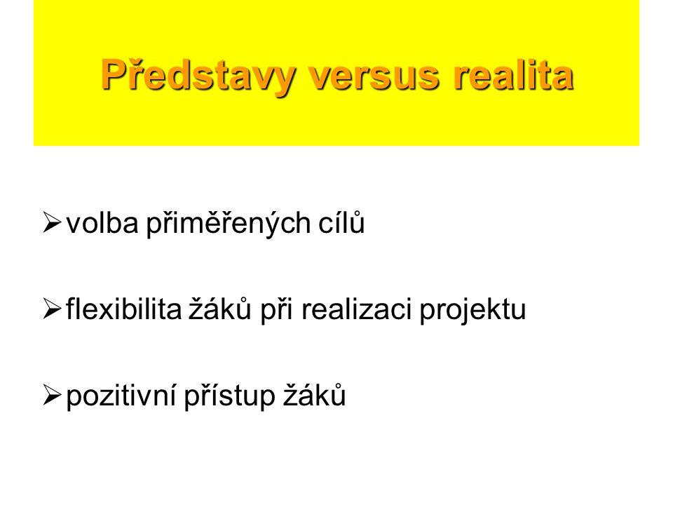 Představy versus realita