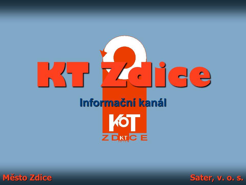 KT Zdice Informační kanál Město Zdice Sater, v. o. s.