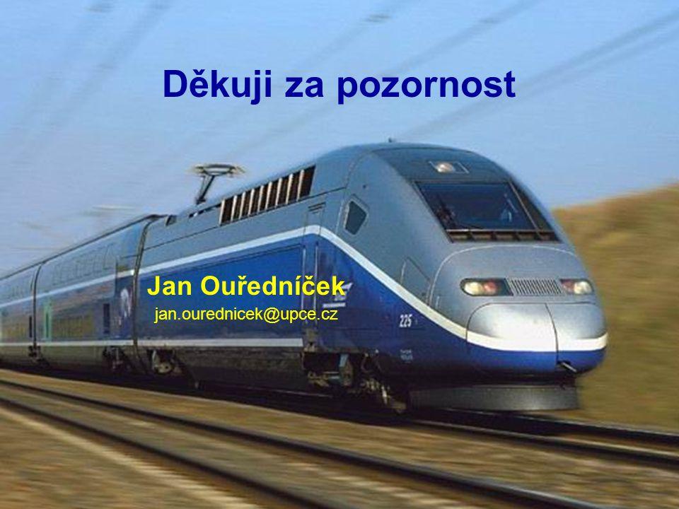Děkuji za pozornost Jan Ouředníček jan.ourednicek@upce.cz