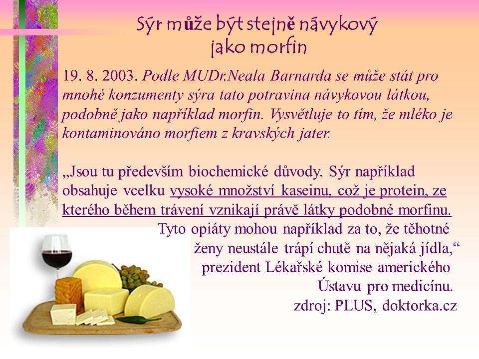 Sýr může být stejně návykový jako morfin