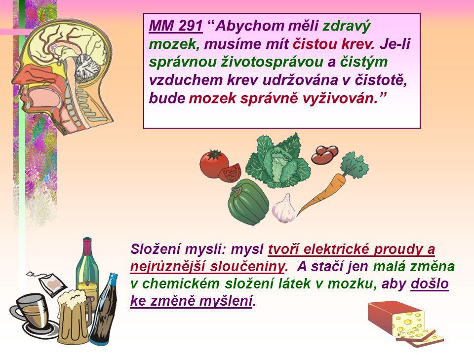 MM 291 Abychom měli zdravý mozek, musíme mít čistou krev