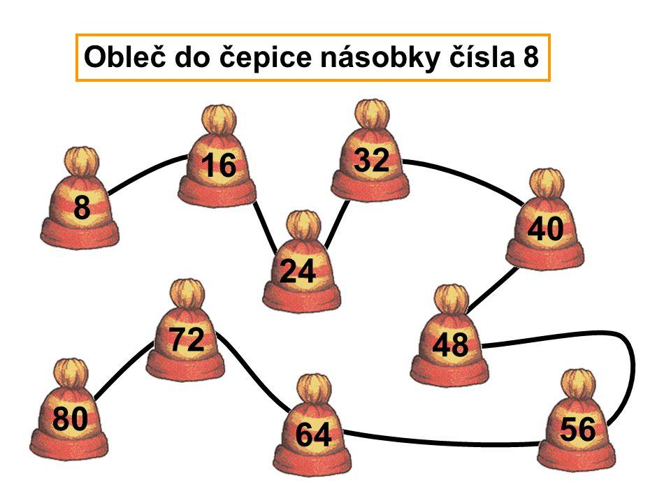 Obleč do čepice násobky čísla 8