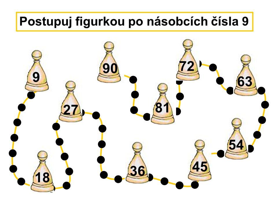 Postupuj figurkou po násobcích čísla 9