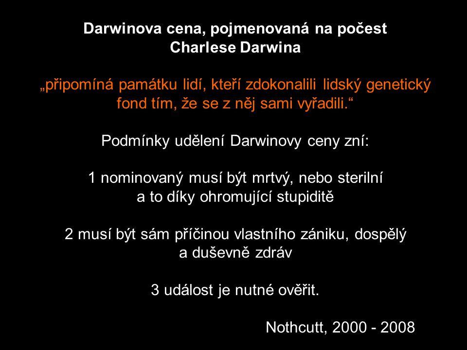 Darwinova cena, pojmenovaná na počest