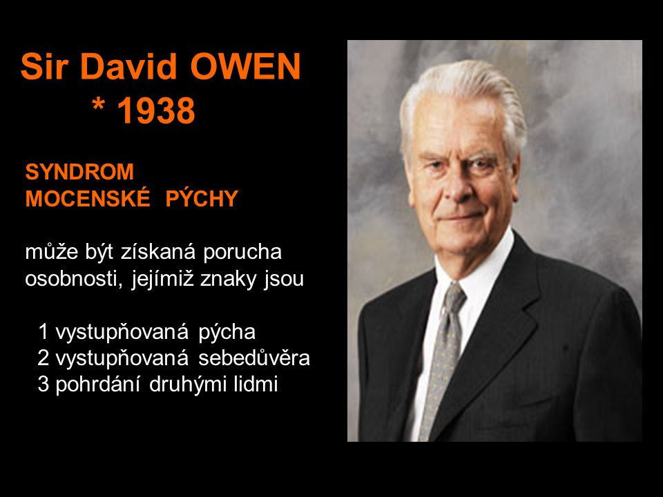 Sir David OWEN * 1938.