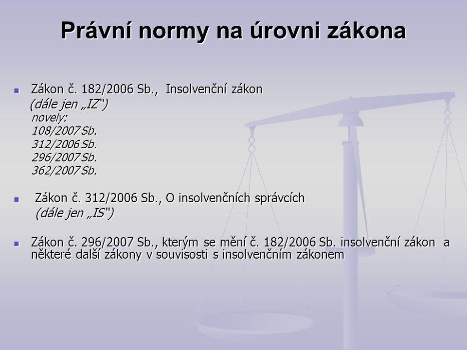 Právní normy na úrovni zákona