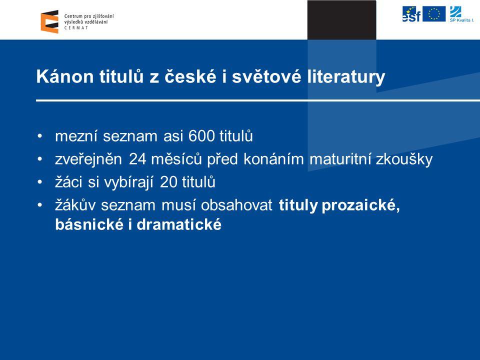 Kánon titulů z české i světové literatury