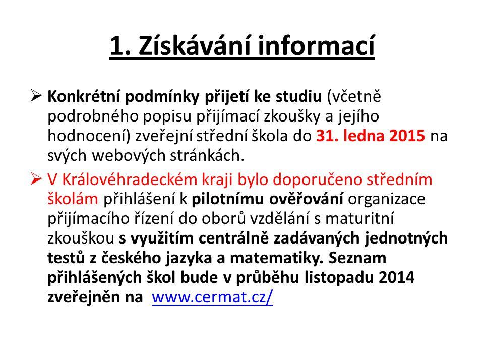 1. Získávání informací