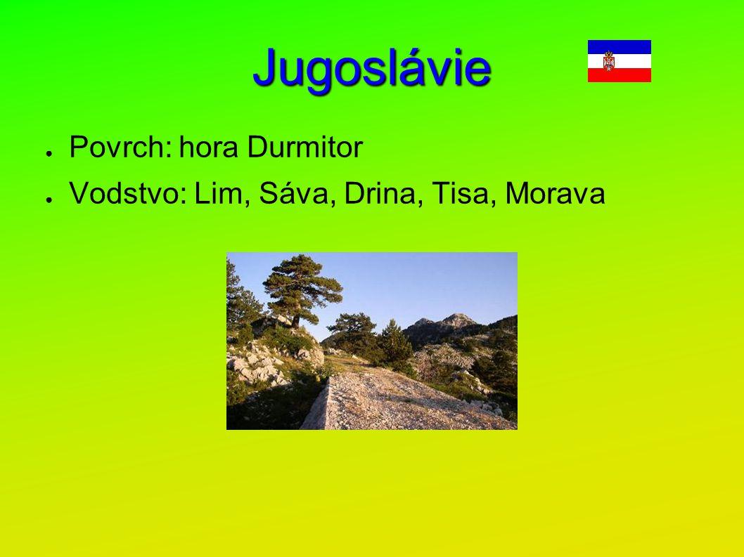 Jugoslávie Povrch: hora Durmitor