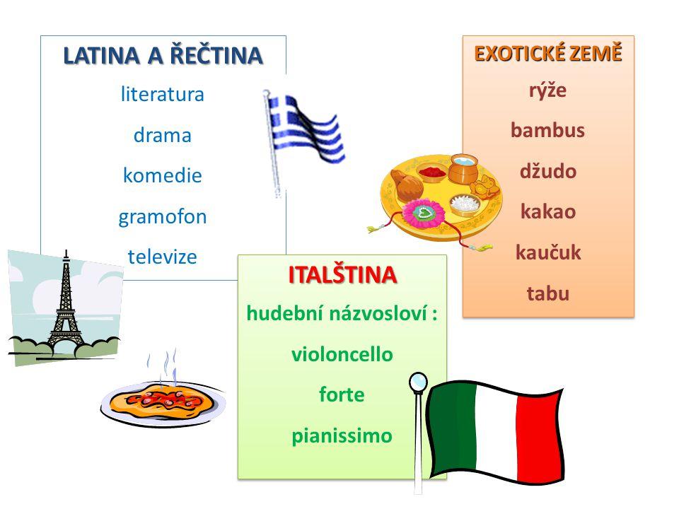 LATINA A ŘEČTINA ITALŠTINA