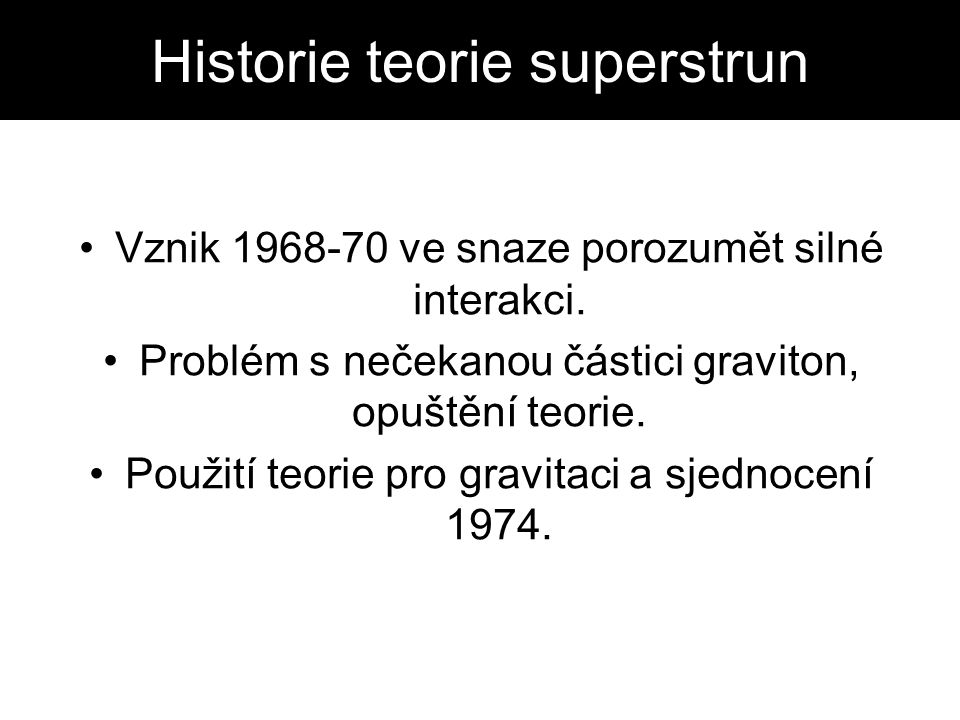 Historie teorie superstrun