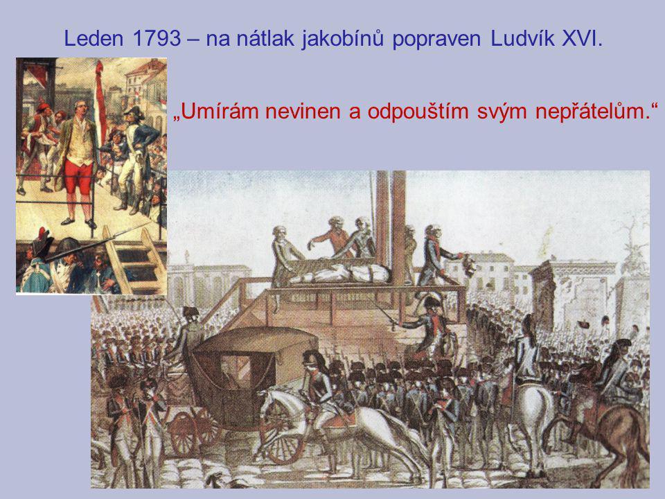 Leden 1793 – na nátlak jakobínů popraven Ludvík XVI.