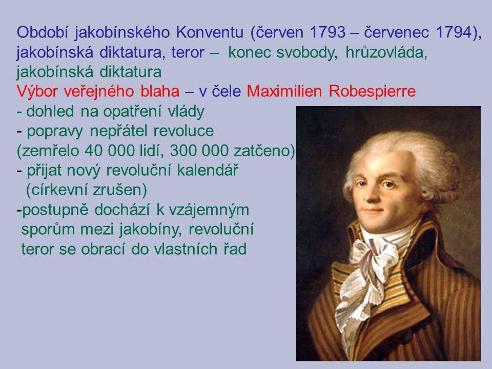 Období jakobínského Konventu (červen 1793 – červenec 1794),