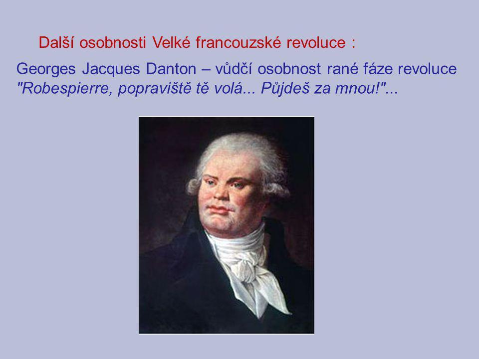 Další osobnosti Velké francouzské revoluce :