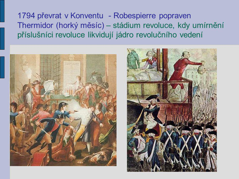 1794 převrat v Konventu - Robespierre popraven
