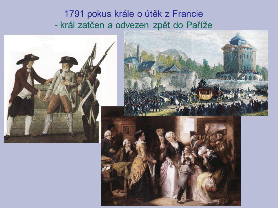 1791 pokus krále o útěk z Francie