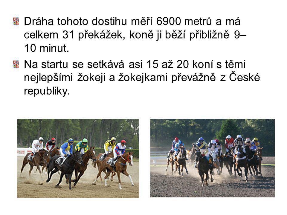 Dráha tohoto dostihu měří 6900 metrů a má celkem 31 překážek, koně ji běží přibližně 9–10 minut.