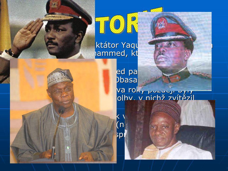 HISTORIE 1975: odstraněn diktátor Yaqubu Gowon a zvolen Murtala Ramat Mohammed, který slíbil návrat k civilní vládě.