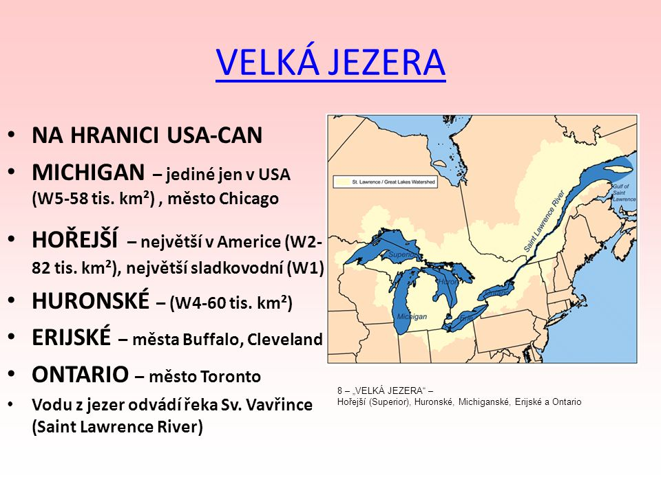 VELKÁ JEZERA NA HRANICI USA-CAN