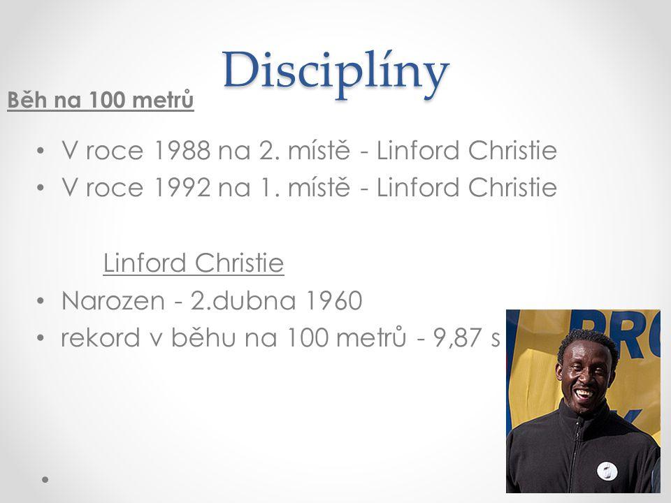 Disciplíny V roce 1988 na 2. místě - Linford Christie