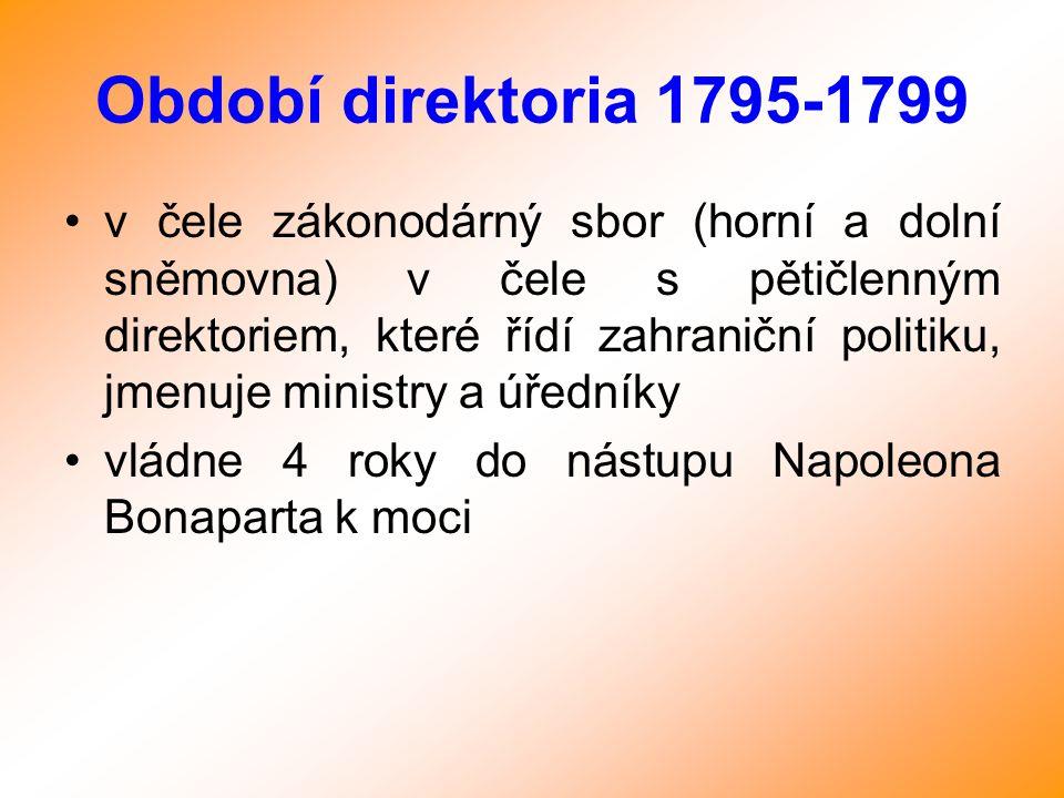 Období direktoria 1795-1799