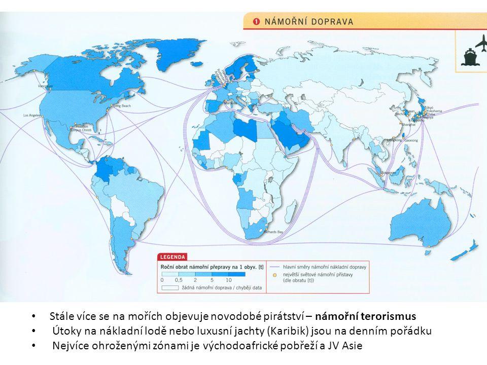 Nejvíce ohroženými zónami je východoafrické pobřeží a JV Asie