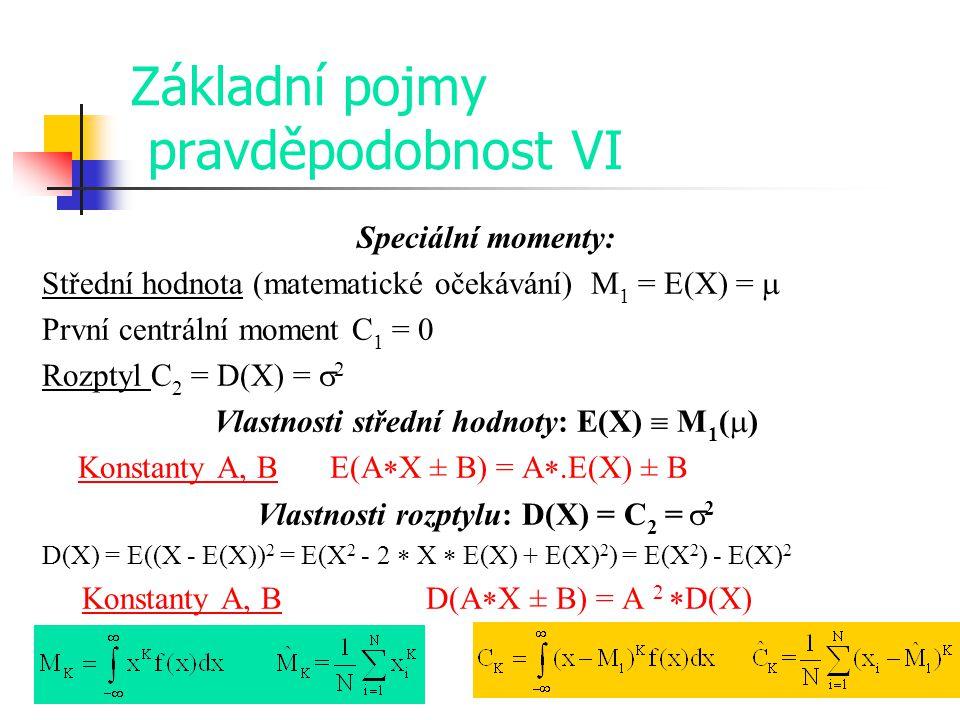 Základní pojmy pravděpodobnost VI