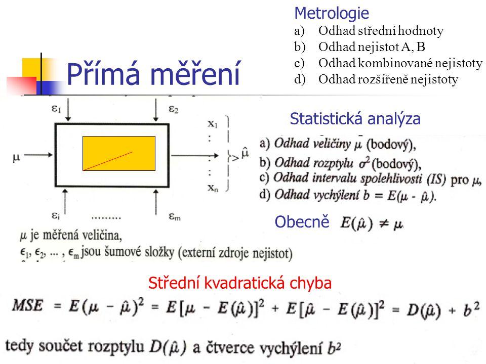 Přímá měření Metrologie Statistická analýza Obecně