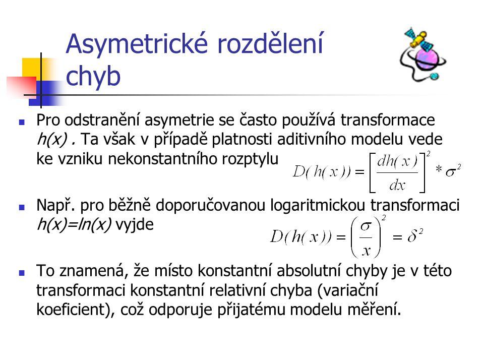 Asymetrické rozdělení chyb