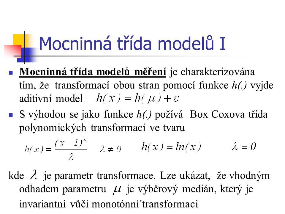 Mocninná třída modelů I