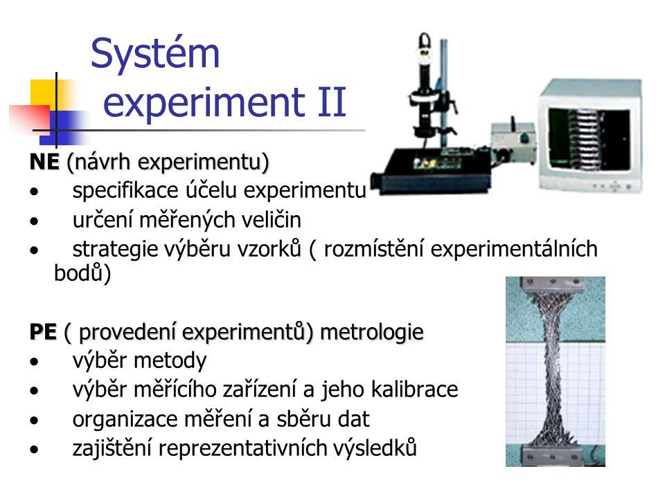 Systém experiment II NE (návrh experimentu)