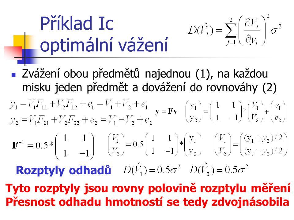 Příklad Ic optimální vážení
