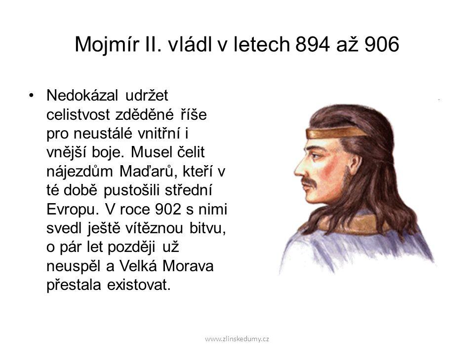 Mojmír II. vládl v letech 894 až 906