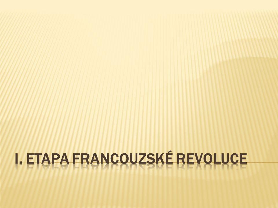 I. etapa francouzské revoluce