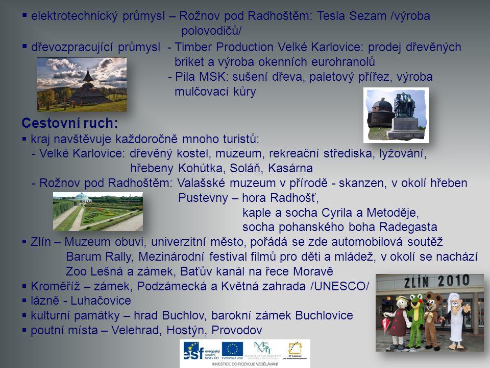elektrotechnický průmysl – Rožnov pod Radhoštěm: Tesla Sezam /výroba polovodičů/