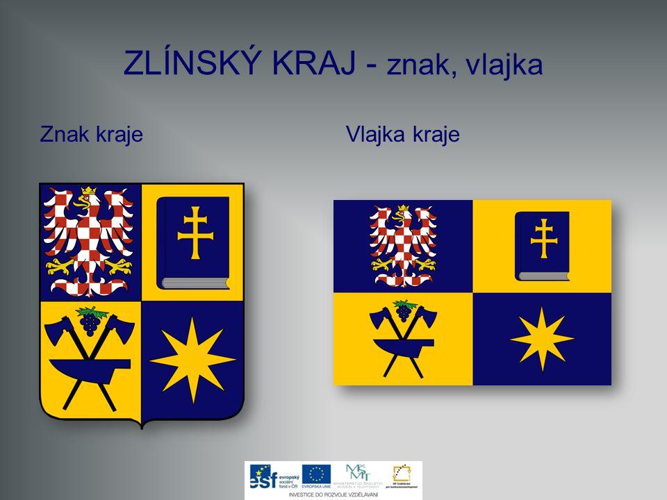 ZLÍNSKÝ KRAJ - znak, vlajka