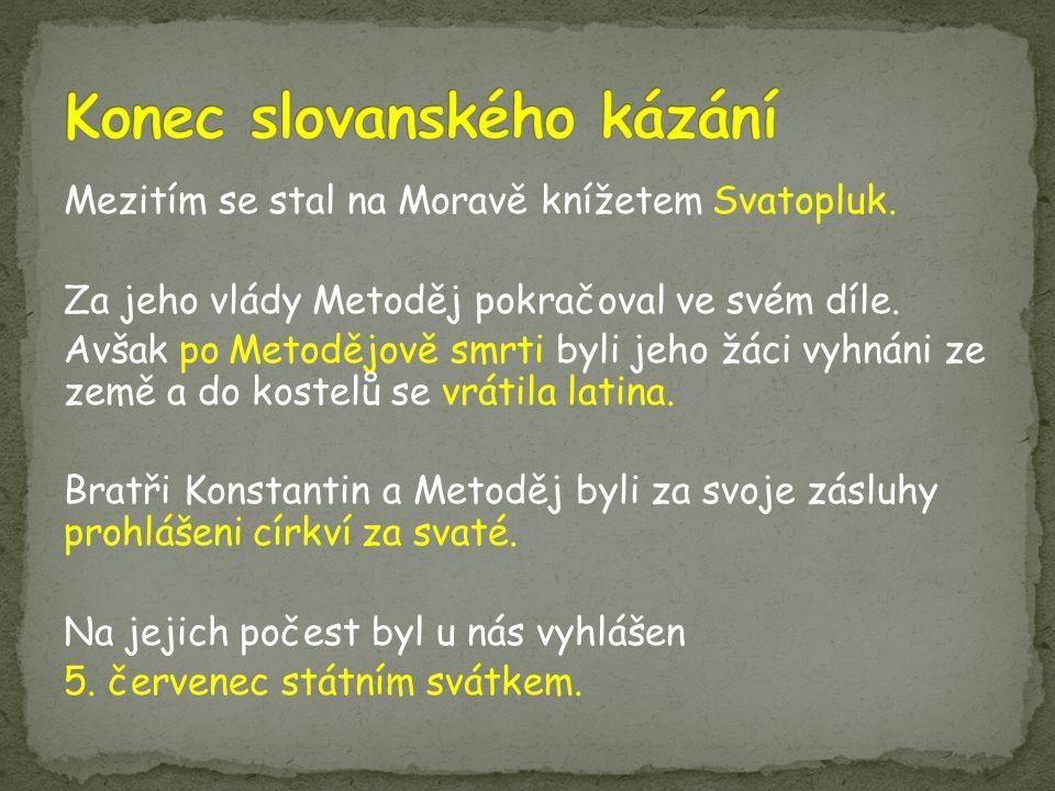 Konec slovanského kázání