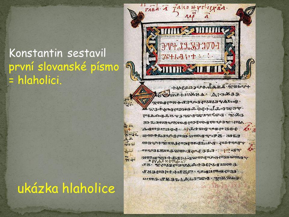 ukázka hlaholice Konstantin sestavil