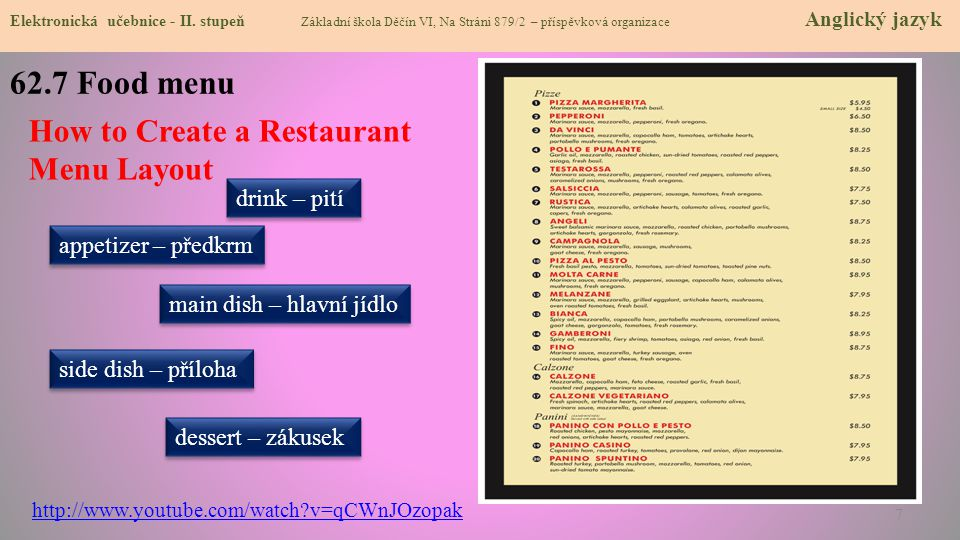 62.7 Food menu How to Create a Restaurant Menu Layout drink – pití