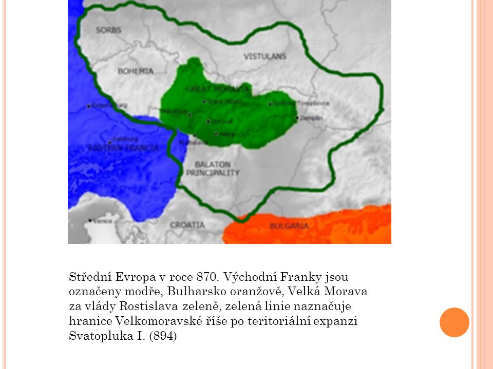 Střední Evropa v roce 870.