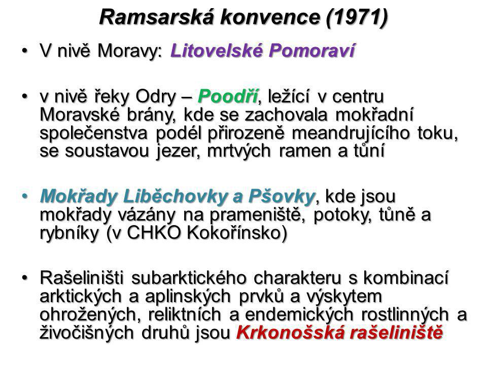 Ramsarská konvence (1971) V nivě Moravy: Litovelské Pomoraví