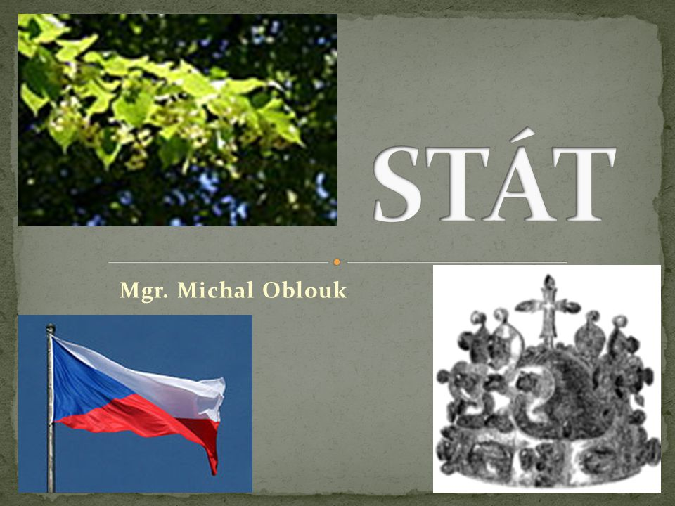 STÁT Mgr. Michal Oblouk