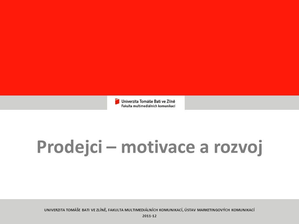 Prodejci – motivace a rozvoj